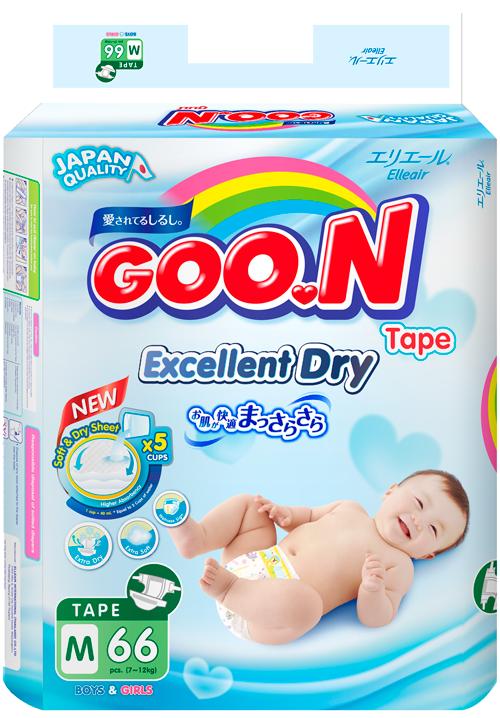 Tã dán Goon Renew  Slim các size (bịch đại)