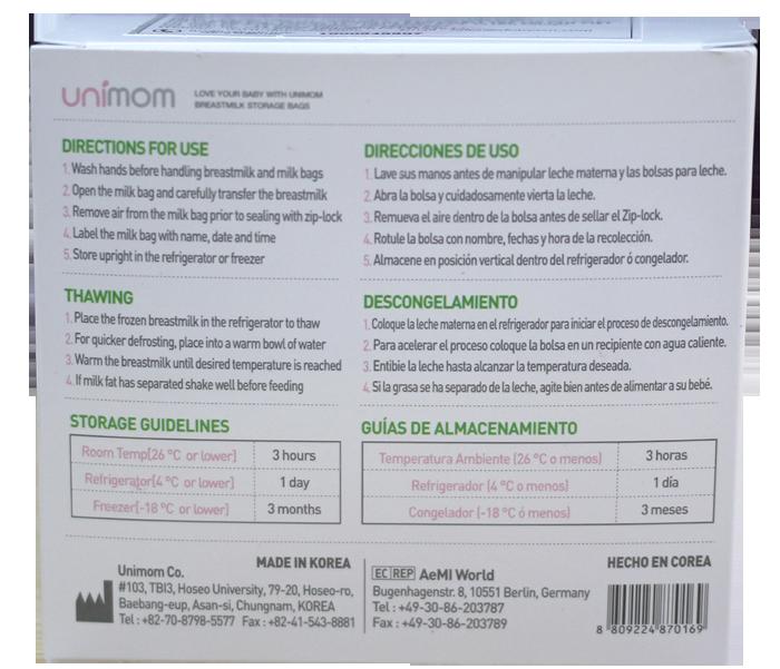Túi trữ sữa Unimom UM870169 (30 túi)