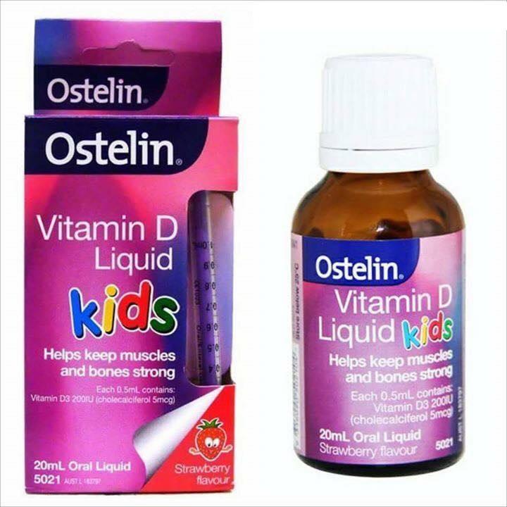Vitamin D Kids Liquid 20ml Vitamin D Ostelin dạng nước cho trẻ em 0-12 tuổi 20ml - Úc