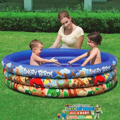 Hồ phao Disney Princess - Bể bơi 3 tầng Angribird 96108B