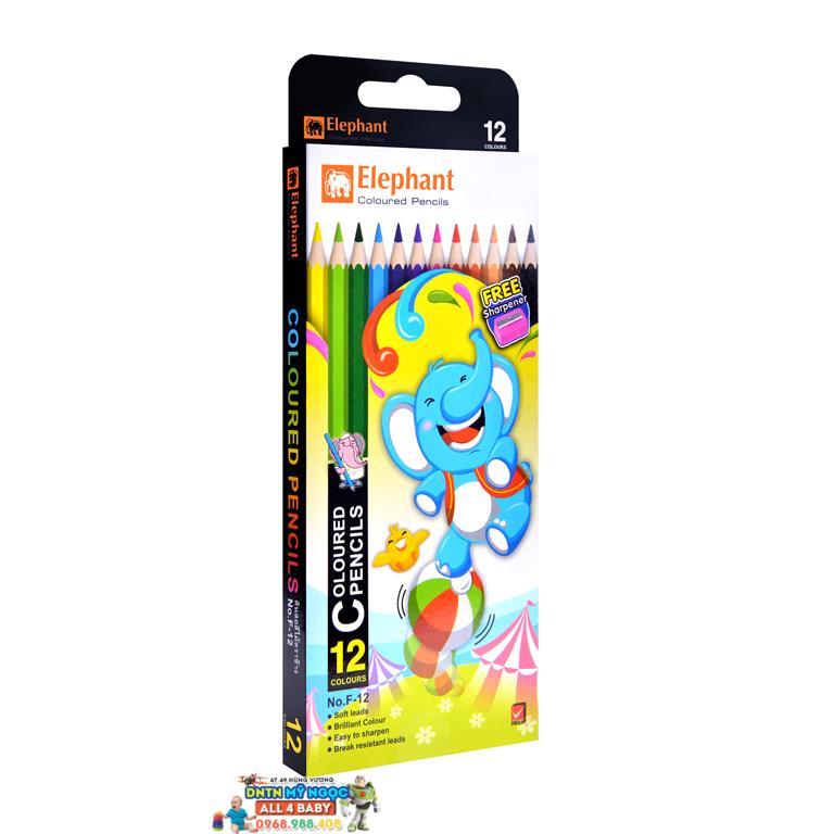 Bút chì màu gỗ dài 12 màu Elephant LF12 TL