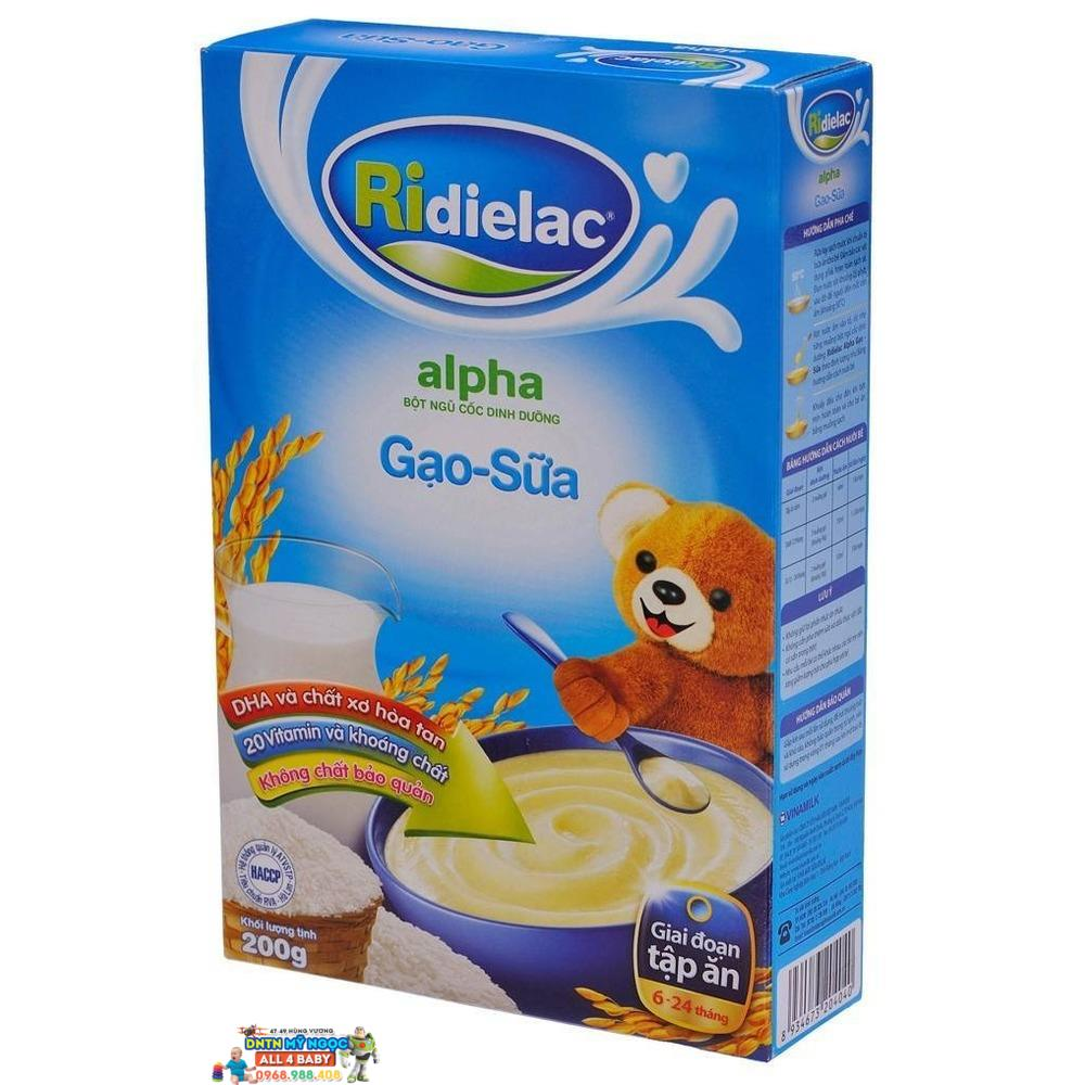 Bột ăn dặm Ridielac gạo sữa 6-24M - 200g