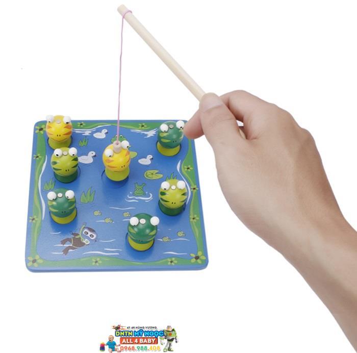 Đồ chơi gỗ Veesano - Bộ đồ chơi câu ếch Benho YT8520