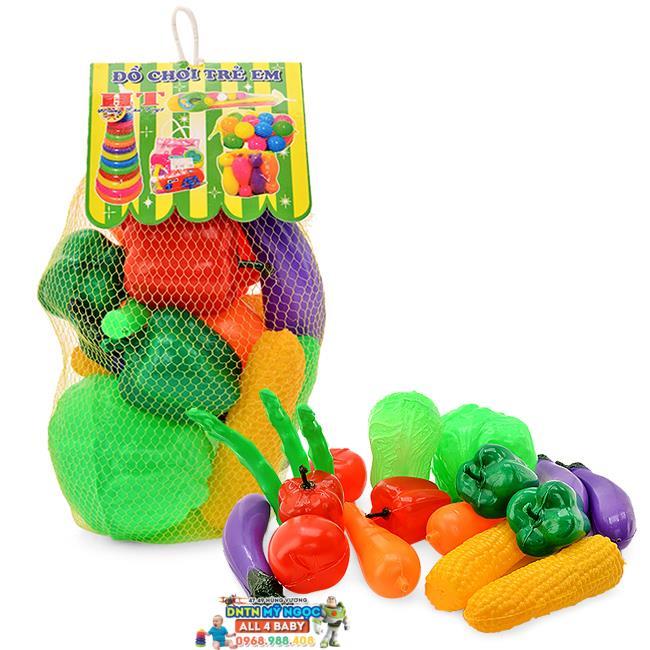 Túi lưới đồ chơi trái rau củ quả cỡ nhỏ LT