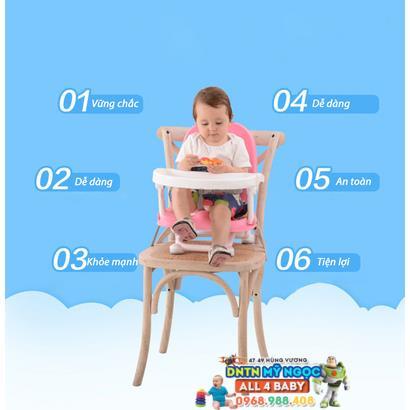 Ghế nhựa ăn bột điều chỉnh 4 cấp độ Aricare 1013