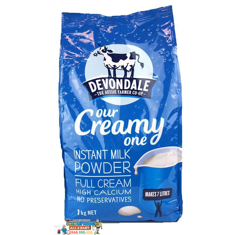 Sữa tươi dạng bột Devondale nguyên kem Úc dành cho bé từ 2 tuổi trở lên