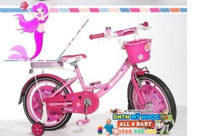 Xe đạp trẻ em cho bé gái Stitch Family