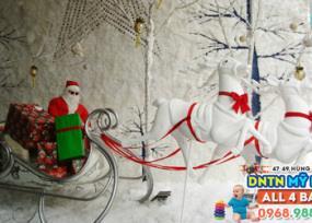 Ông già Noel, xe kéo tuần lộc, ông già tuyết,... mô hình 3D