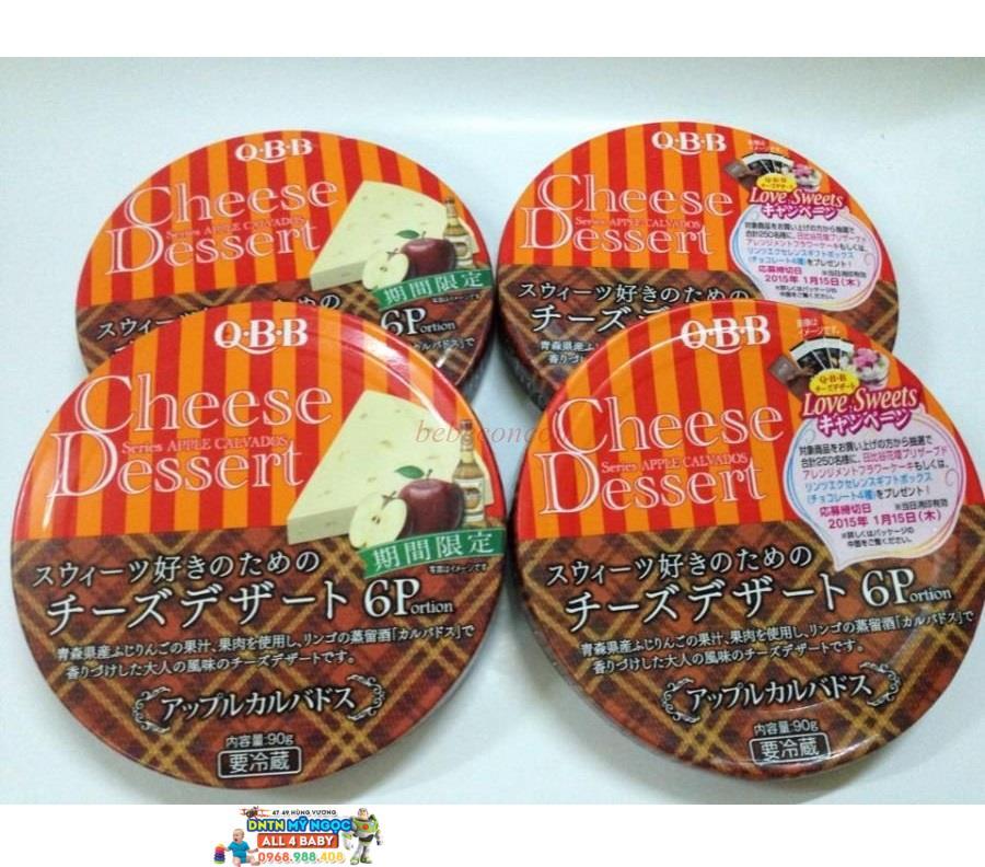 Phô Mai QBB Nhật hộp tròn vị Táo (6*15g)