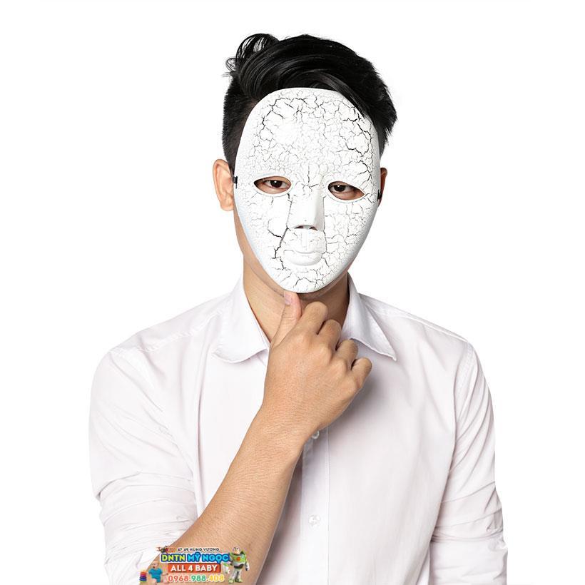 Mặt nạ hóa trang Halloween trắng da nứt nẻ