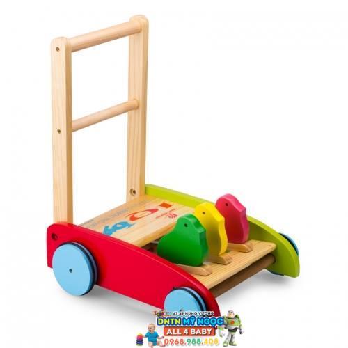 Xe đẩy tập đi gỗ IQ Toys con chim