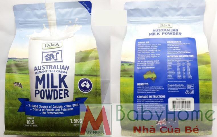 Sữa tươi dạng bột tách kem DJ&A Úc
