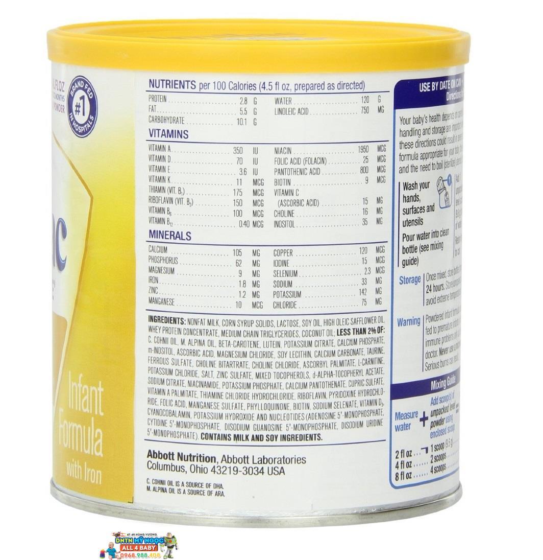 Sữa bột Similac Neosure 371g (0 -12 tháng)
