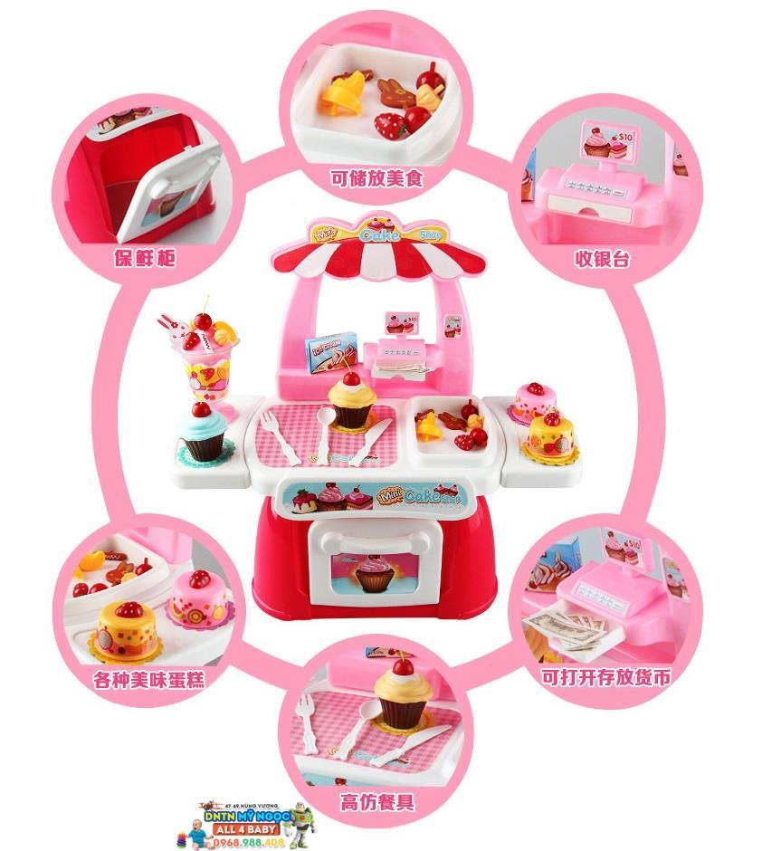 Đồ chơi nhà bếp lớn dùng pin Cake 889-34