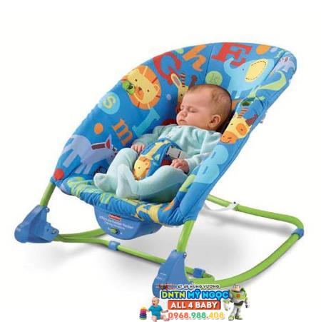 Ghế rung Fisher Price V2559 màu xanh