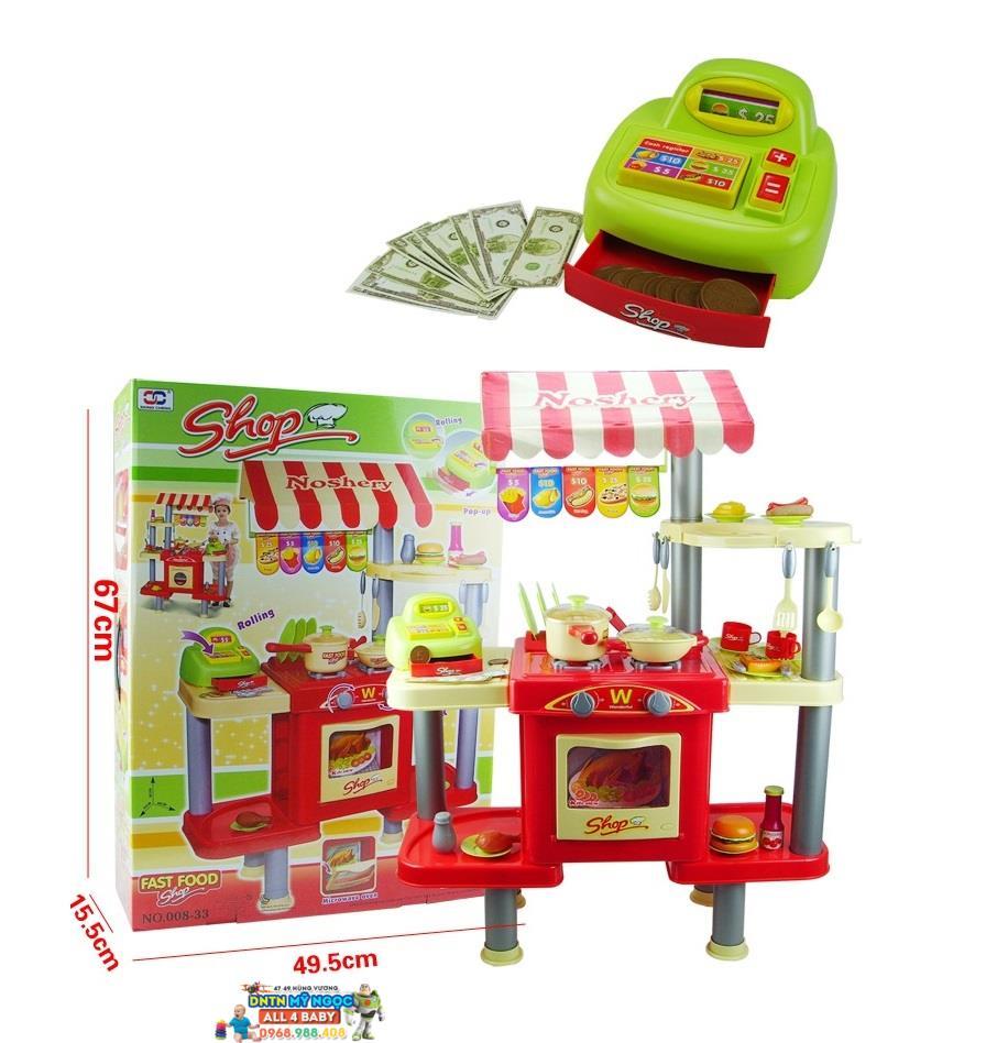 Đồ chơi nhà bếp lớn dùng pin có máy tính tiền 008-33