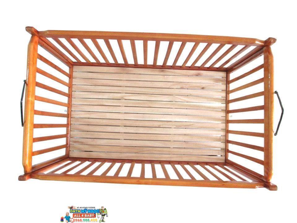 Nôi gỗ tự động cao cấp đa năng VieNoi 3 in 1 (Đại)