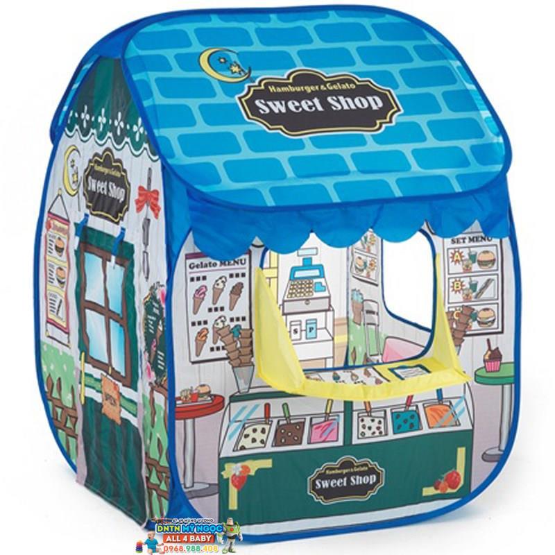 Nhà banh (Lều bóng) cửa hàng xanh LI713