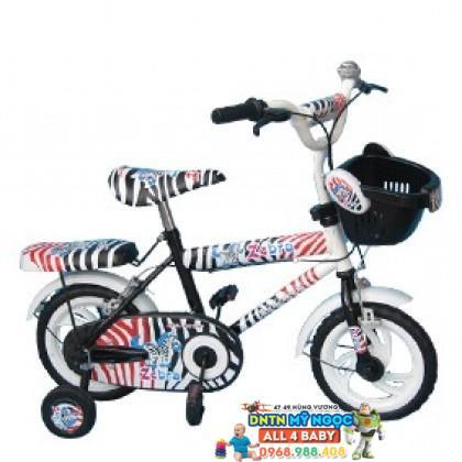 Xe đạp 2 bánh NCL bé gái cỡ 14 inch có nệm