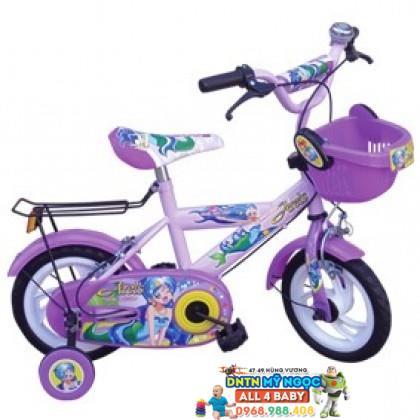 Xe đạp 2 bánh NCL bé gái cỡ 14 inch không nệm