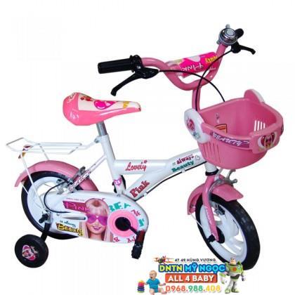 Xe đạp 2 bánh NCL bé gái cỡ 12 inch không nệm