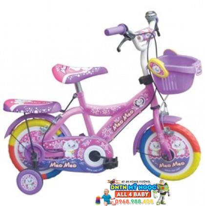 Xe đạp 2 bánh NCL bé gái cỡ 12 inch có nệm