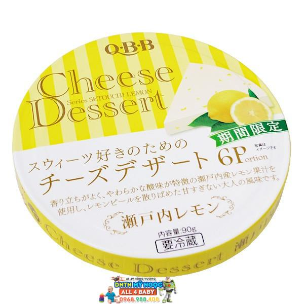 Phô Mai QBB Nhật hộp tròn vị Chanh (6*15g)