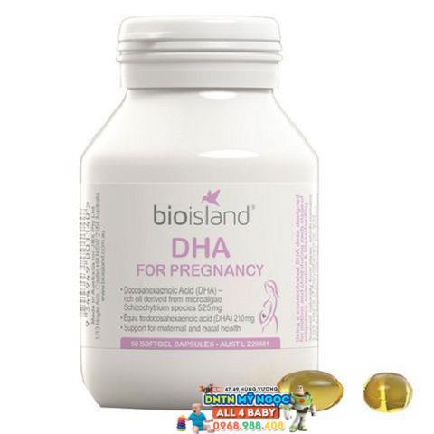 Viên uống bổ sung DHA cho bà bầu - Bio Island for Pregnancy Úc - 60 viên