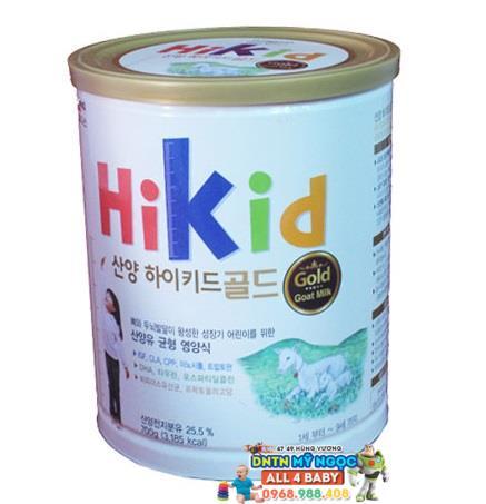 Sữa dê núi Hikid 700g (từ 1-9 tuổi)