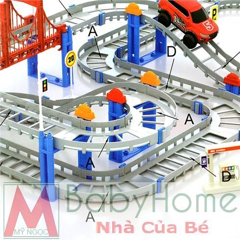Lắp ráp mô hình đường ray xe ô tô 512B