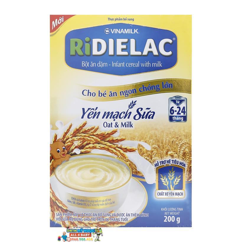 Bột ăn dặm Ridielac yến mạch sữa 6-24M - 200g