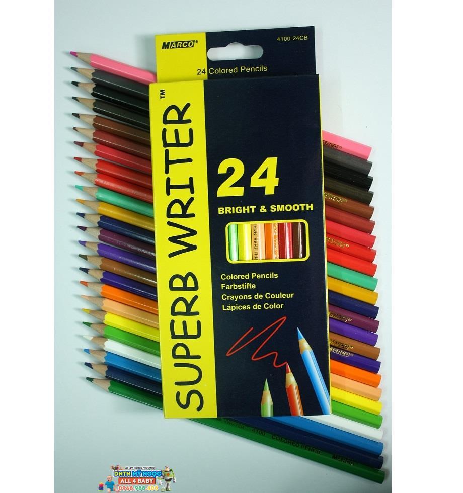 Bút chì màu gỗ 24 màu Marco 4100-24