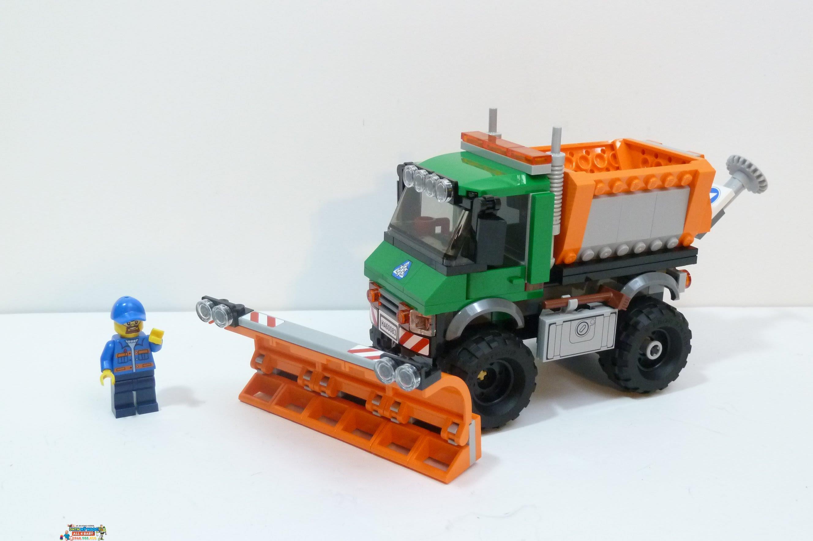 Hộp ráp Lego City 60083 - Xe ủi tuyết (Đan Mạch)