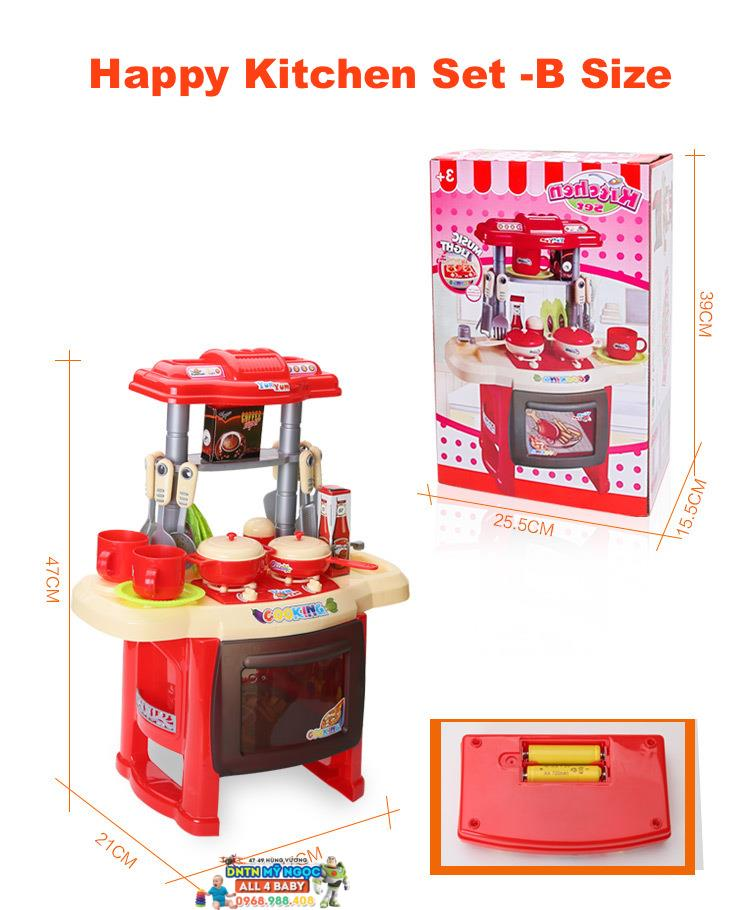 Đồ chơi nhà bếp lớn dùng pin Happy Kitchen 889-07