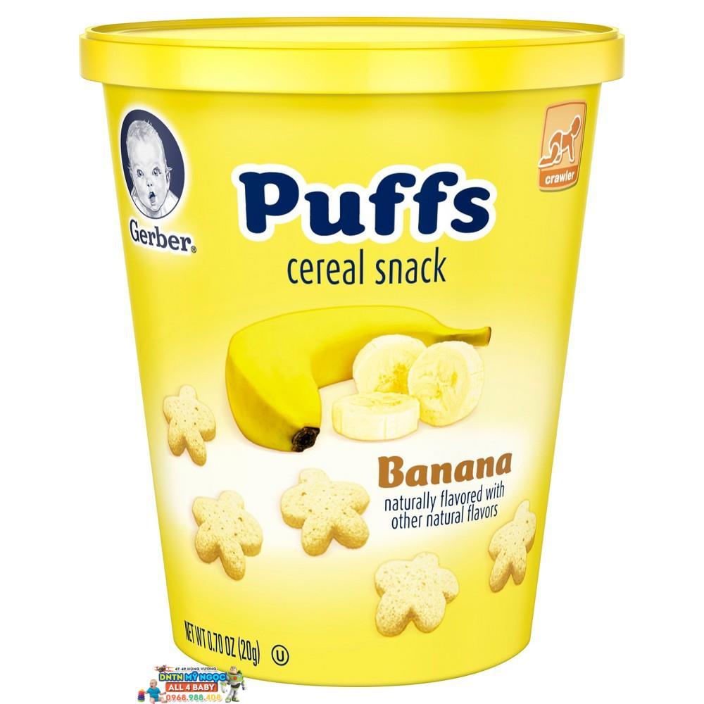 Bánh sao Gerber vị chuối dễ tan (dạng ly) -  Mỹ