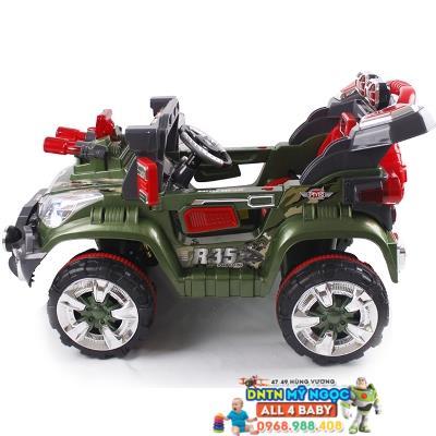Xe ôtô điện trẻ em quân sự QX-7566-3