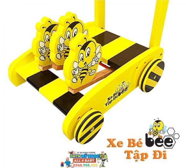 Xe đẩy tập đi gỗ IQ Toys ong vàng Bee