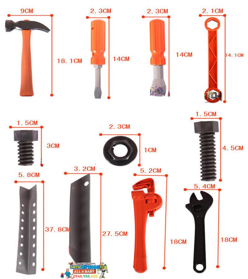 Bộ dụng cụ sửa chữa va li xách tay Quality 008-21