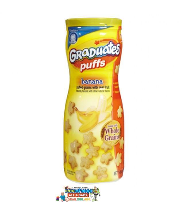 Bánh ăn dặm Gerber Graduates Puffs vị chuối (42g)