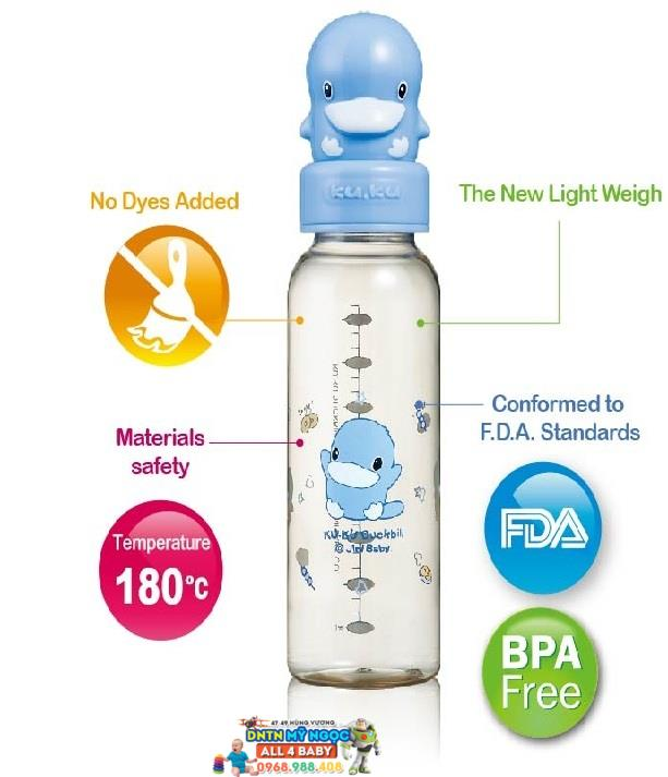 Bình sữa KuKu nhựa PES 240ml- Ku5127