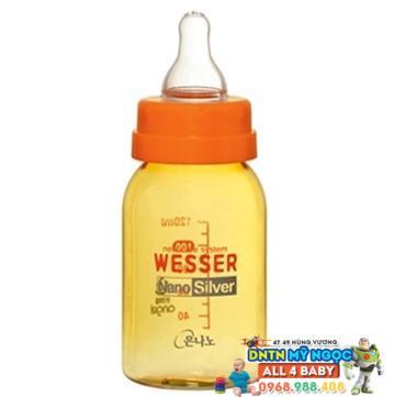 Bình sữa Wesser Silver Nano 120ml - Cổ nhỏ