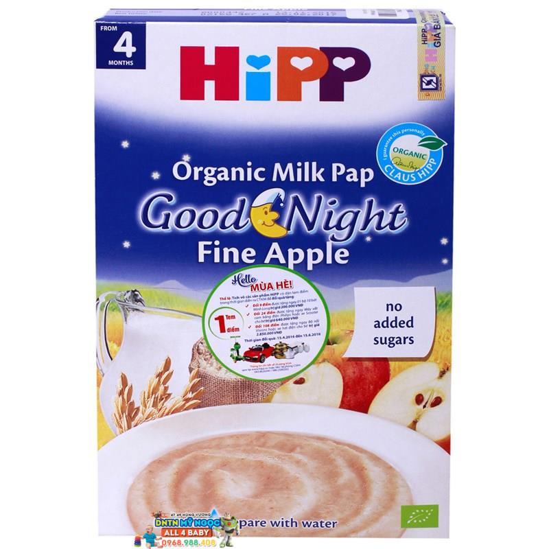 Bột dinh dưỡng Hipp chúc ngủ ngon sữa, yến mạch, táo tây 4M+ 250g
