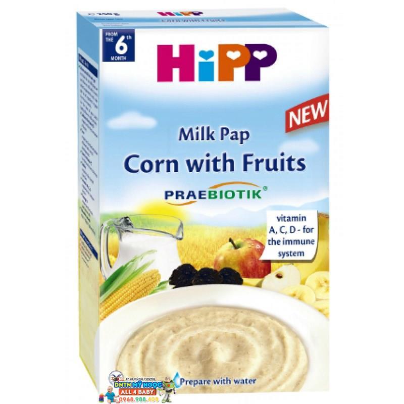 Bột dinh dưỡng Hipp hoa quả, sữa, bắp 6M+ 250g
