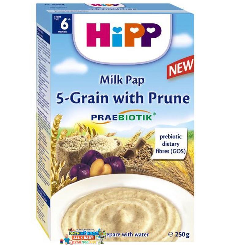 Bột dinh dưỡng Hipp ngũ cốc tổng hợp - mận tây 6M+ 250g