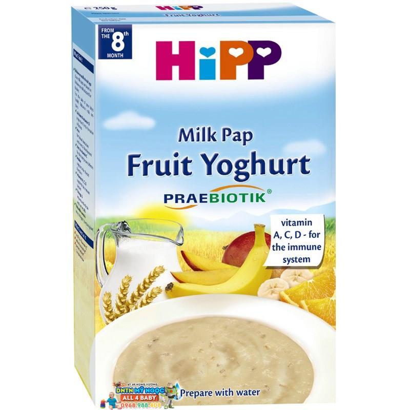 Bột dinh dưỡng Hipp sữa chua hoa quả nhiệt đới 8M+ 250g
