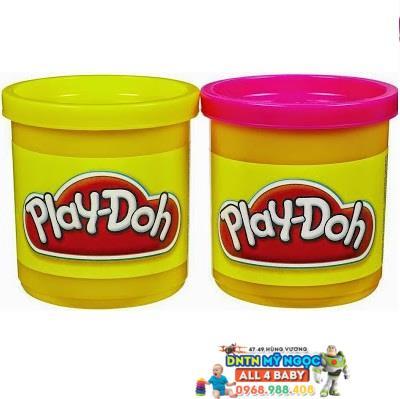 Bộ đất nặn Playdoh 2 màu hồng và vàng hình con ong 23655
