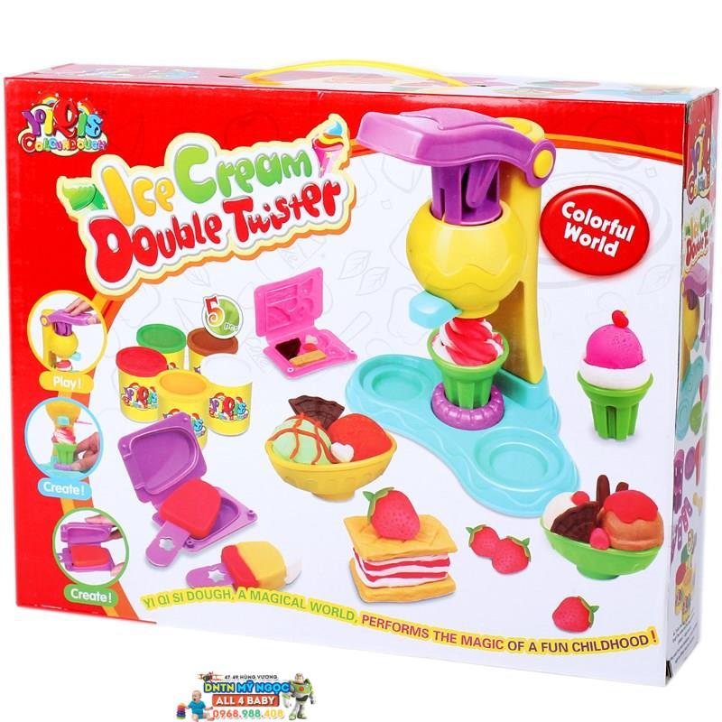 Bộ đồ chơi đất nặn làm kem Double Twister