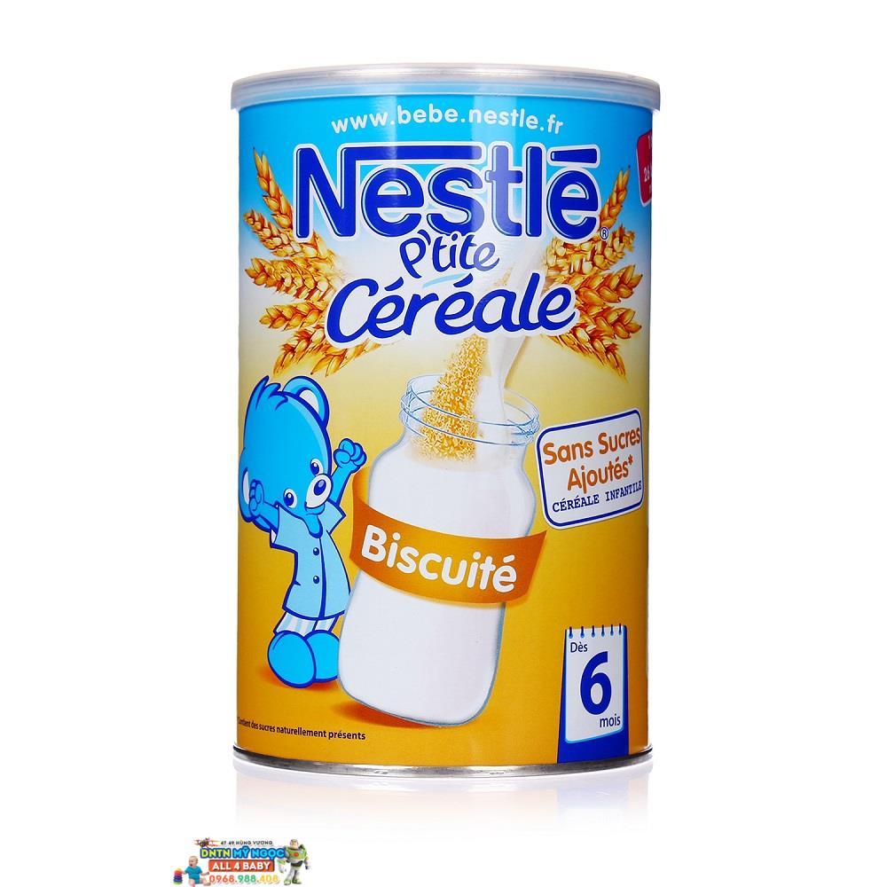 Bột ngũ cốc Nestle vị bích quy biscuite (6 tháng trở lên, 400g)