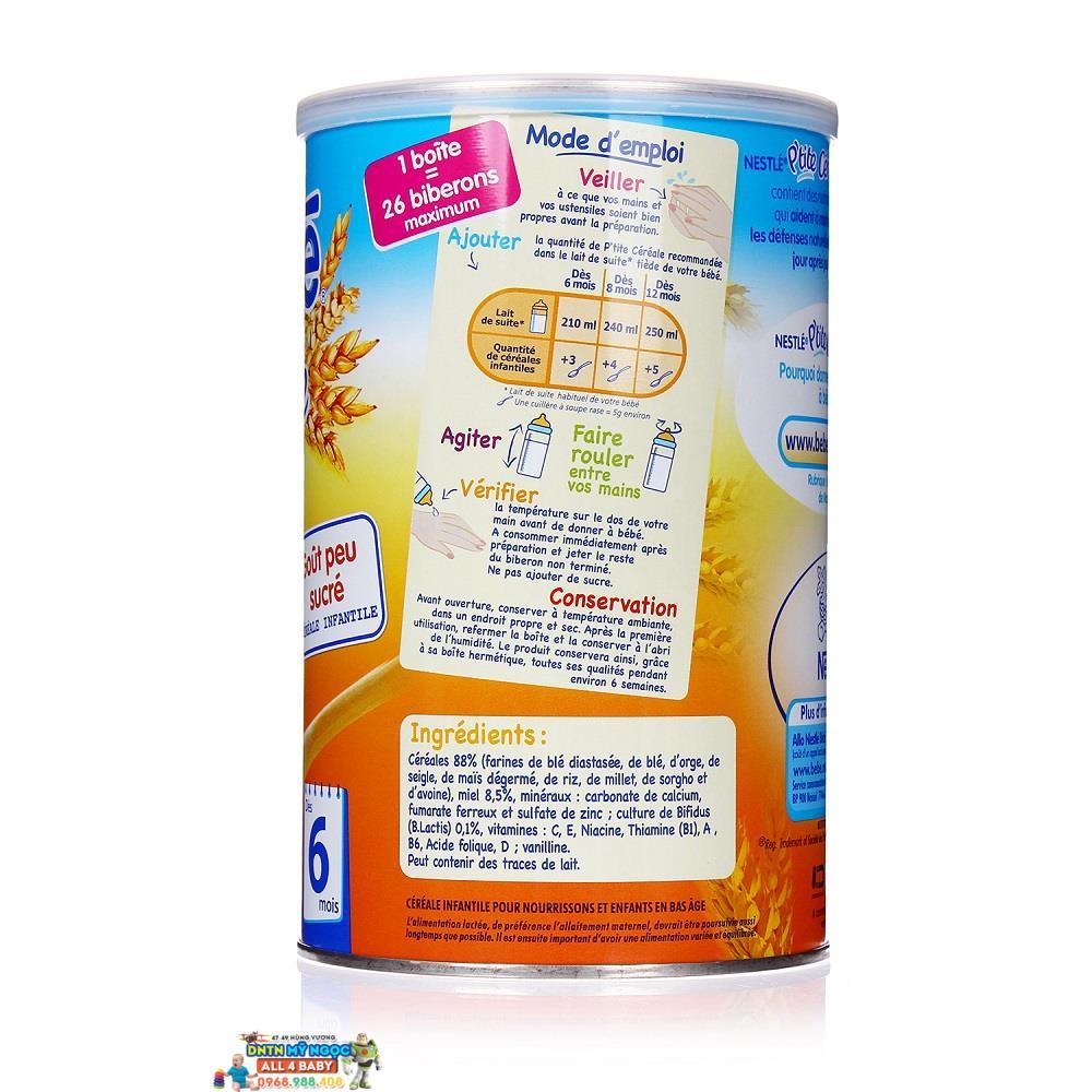 Bột ngũ cốc Nestle vị mật ong (6 tháng trở lên, 400g)