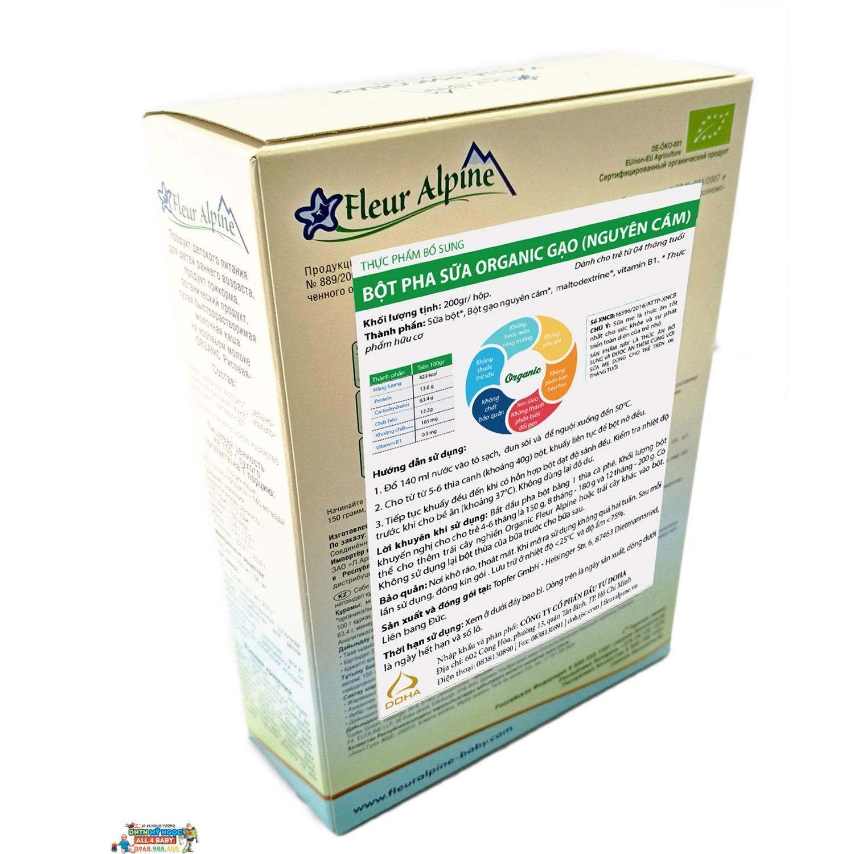 Bột gạo pha sữa Organic gạo nguyên cám 2159